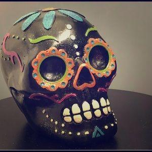 Halloween Day of The Dead Sugar Skull Glitter BLCK